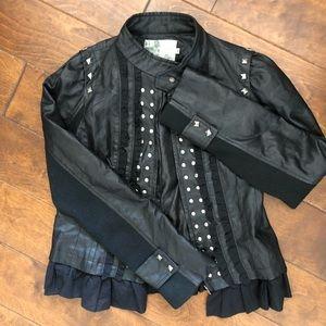 Ryu Black Faux Leather Jacket